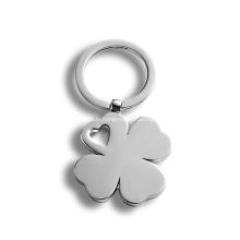 Porte-clés strass cristal diamant trèfle à quatre feuilles