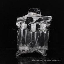 5PCS Travel Bottle Set, Screw / Disc Top Cap Bouteille, Jar