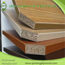 3-18mm Block Board Núcleo ou choupo ou madeira folheada Core Melamina compensado para móveis da fábrica de Linyi Qimeng