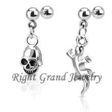 Unique Skull Dangle Tragus Piercing Jewelry Earrings