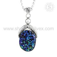 Splendid multi gemstone silver pendant jewelry 925 sterling silver handmade jewelry wholesale supplier