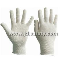 Malha de algodão luva com pontos de PVC Mini (S5112)