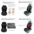 Black Heat Massage Car Seat Cushion with Lumbar Therapy