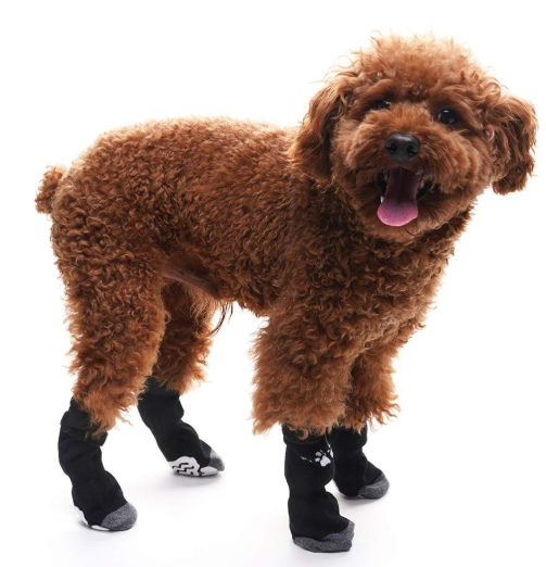 Anti-Rutsch-Strick-Hundesocken