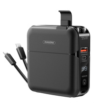 Remax Join Us 15000 mah PowerBank 18W Pd Portable Charger Holder Fast Charge external battery Wall Adapter Power Bank With Cable