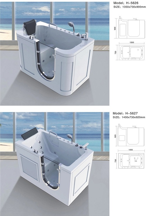freestanding walk in bath tub for adults