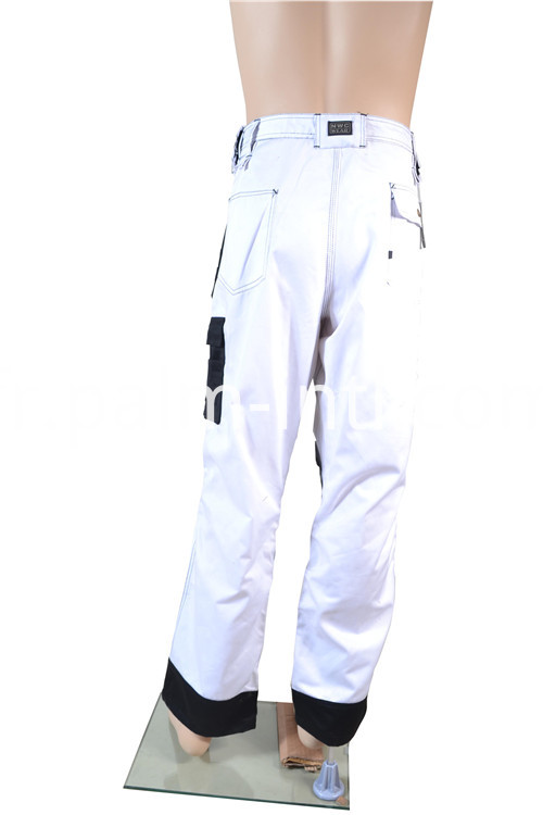 Polyester/Cotton White/Black Pants