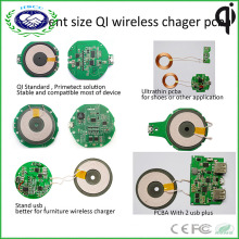 Shenzhen Factory Ce FCC RoHS Certificated Wireless Charger PCBA Accept Custom