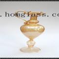 Suporte de vela de vidro personalizado / castiçal / castiçal