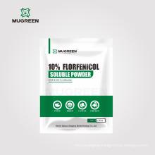 GMP Factory Veterinary Medicine Florfenicol Powder 10% Florfenicol Soluble Powder