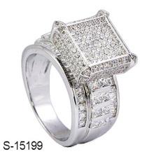 Ювелирные Изделия Стерлингового Серебра 925 Кольцо С Бриллиантом