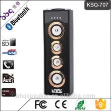 KBQ-707 3000mAh Batterie NEUES hölzernes Bluetooth Karaoke-Turm-drahtloses tragbares Mikrofon-Lautsprechersystem