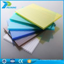 Baratos de alta calidad de plástico de plástico de policarbonato translúcido techo de paneles de hoja