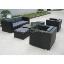 Jardim de vime plástico lazer moderno sofá móveis