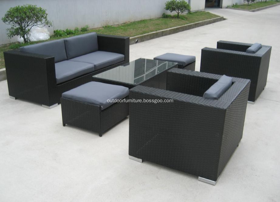DLR1108-6 Plastic Wicker Garden Modern Leisure Sofa Furniture