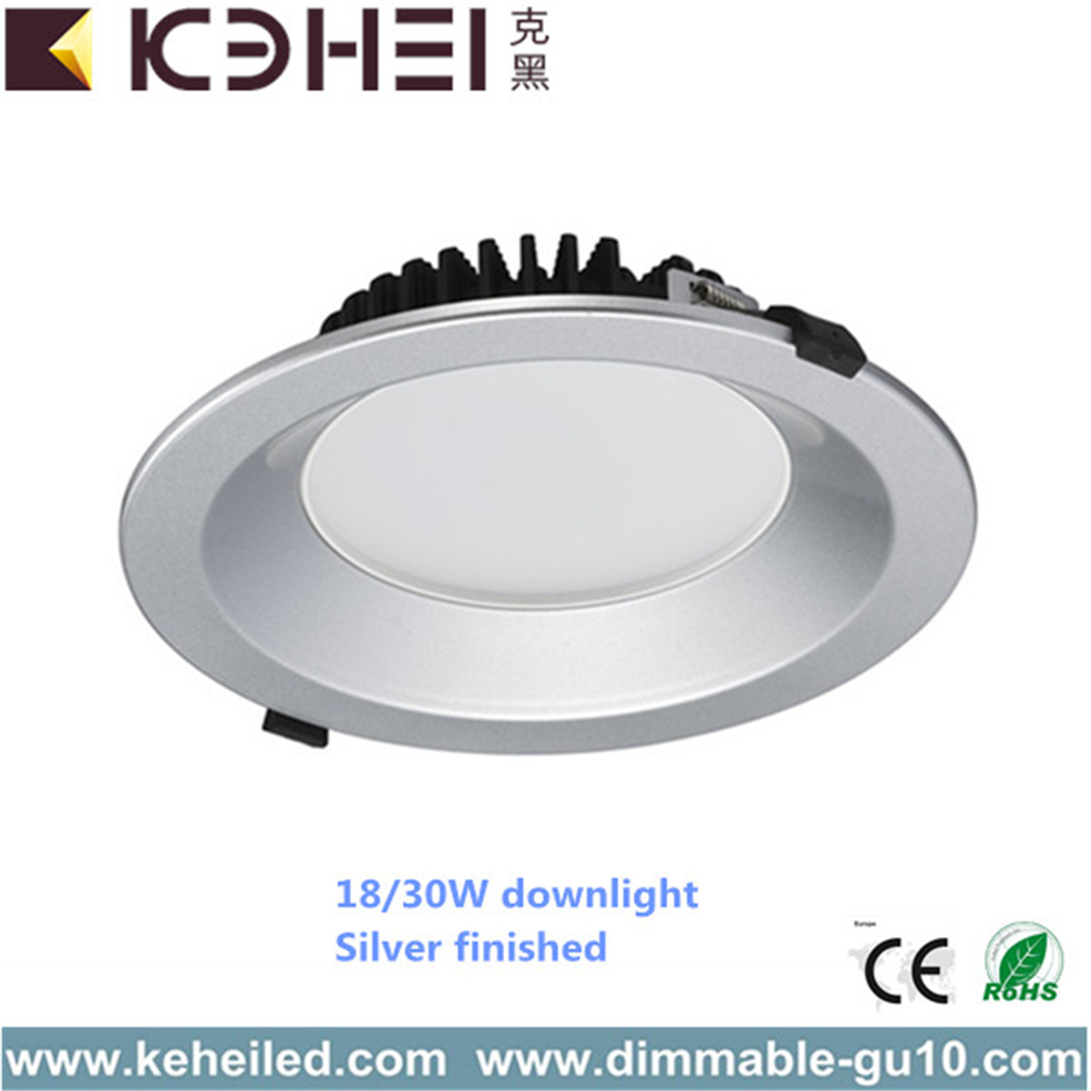 8 بوصة 18W 30W LED Downlights التحديثية 3000K