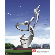 Outdoor Kinetic Stainless Steel Sculpture