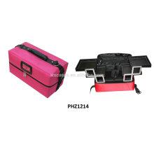 bolso impermeable de la belleza con 4 bandejas extraíbles interior venta caliente fabricante