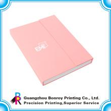 caja de la forma del libro del diseño de la moda del OEM del precio de fábrica con su propio logotipo