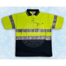 Herren-Sicherheits-Polo-Shirt mit reflektierendem Tape