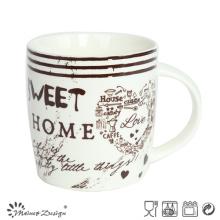 Taza de cerámica de 12 onzas con palabras en inglés