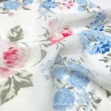 Beautiful pattern polyester rose flower woven 75D chiffon print fabric for summer dress