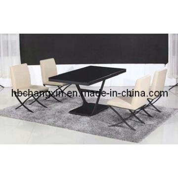 Venda quente de alta qualidade moderno novo Design luxo vidro mesa de jantar