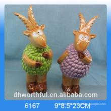 Wholesale decoration ceramic animal craft in goat shape