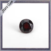 Круглый горячая Распродажа натуральный гранат драгоценный камень для ювелирных изделий