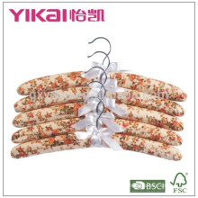 Set of 5pcs cotton padded clothes hanger with beautiful painting