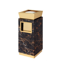 Marble and Stainless Steel Dustbin for Lobby (YW0052)