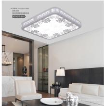 Plafonnier LED carré en bois