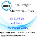 Shenzhen Port Sea Freight Shipping Para Suez