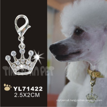 Crown Shape Diamante Pet Tag Cover, Dog Tag (YL71422)