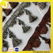 Accesorios textiles para la franja de la borla de la cortina en la acción