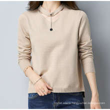 PK18ST098 necklace pullover cashmere sweater for girls