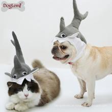 Shark Design Hund Katze Welpen Hut Halloween Cosplay Kappe Mähne Pet Kostüm