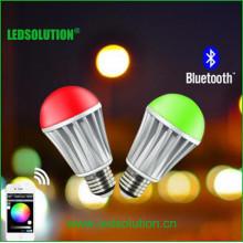 CCT Ajustável e brilho Dimmable bluetooth RGB LED Bulb
