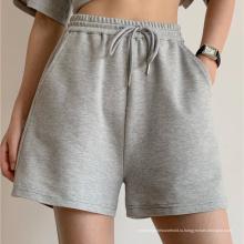 Женские шорты с однотонным шнурком 2021 года