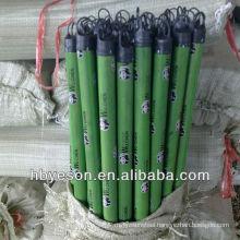 pvc cover wooden broom handle 2.5*120cm