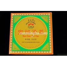 """2008 Xiaguan FT """"Bao Yan Brand """" Mushroom Raw Pu Er Puer Tuo-square box 250g/tuo"""