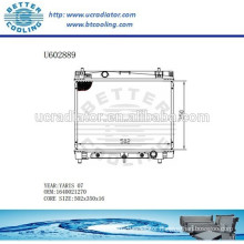 Aluminum Radiator For TOYOTA YARIS 07 1640021270 Manufacturer and Direct Sale