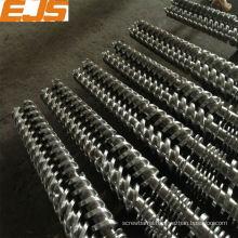 bimetallic plastic twin screw for extruder