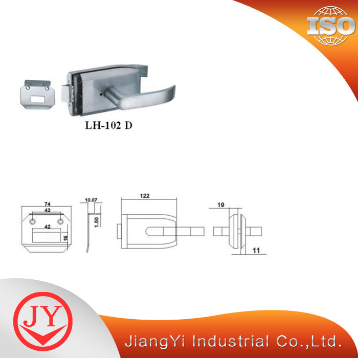Glass Sliding Door Lock With Handle