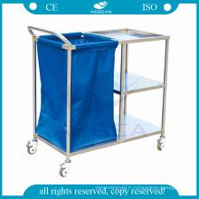 AG-SS010A approuvé trois couches acier instrument hospitalier soins infirmiers cliniques chariots