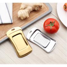 multi-function flat bottom stainless steel ginger slicer grater