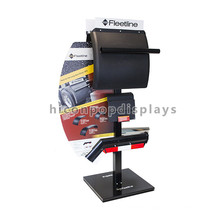 Quality Black Metal Freestanding Car Accessories Showroom Auto Car Spare Parts Display Stand