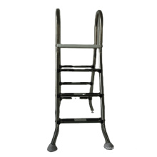 Custom above ground 3-step stainless steel swimming pool ladder with handle