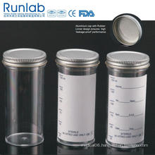 FDA Registered and Ce Approved 150ml Sample Containers with Metal Cap