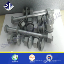 Grade 8.8 hdg bolt and nut hdg recess nut M16 hdg bolt and nut
